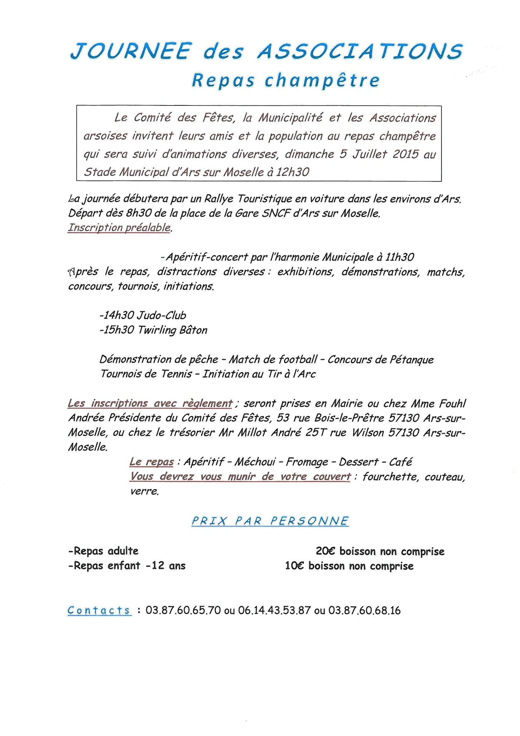 JOURNEE DES ASSOCIATIONS dimanche 5 juillet