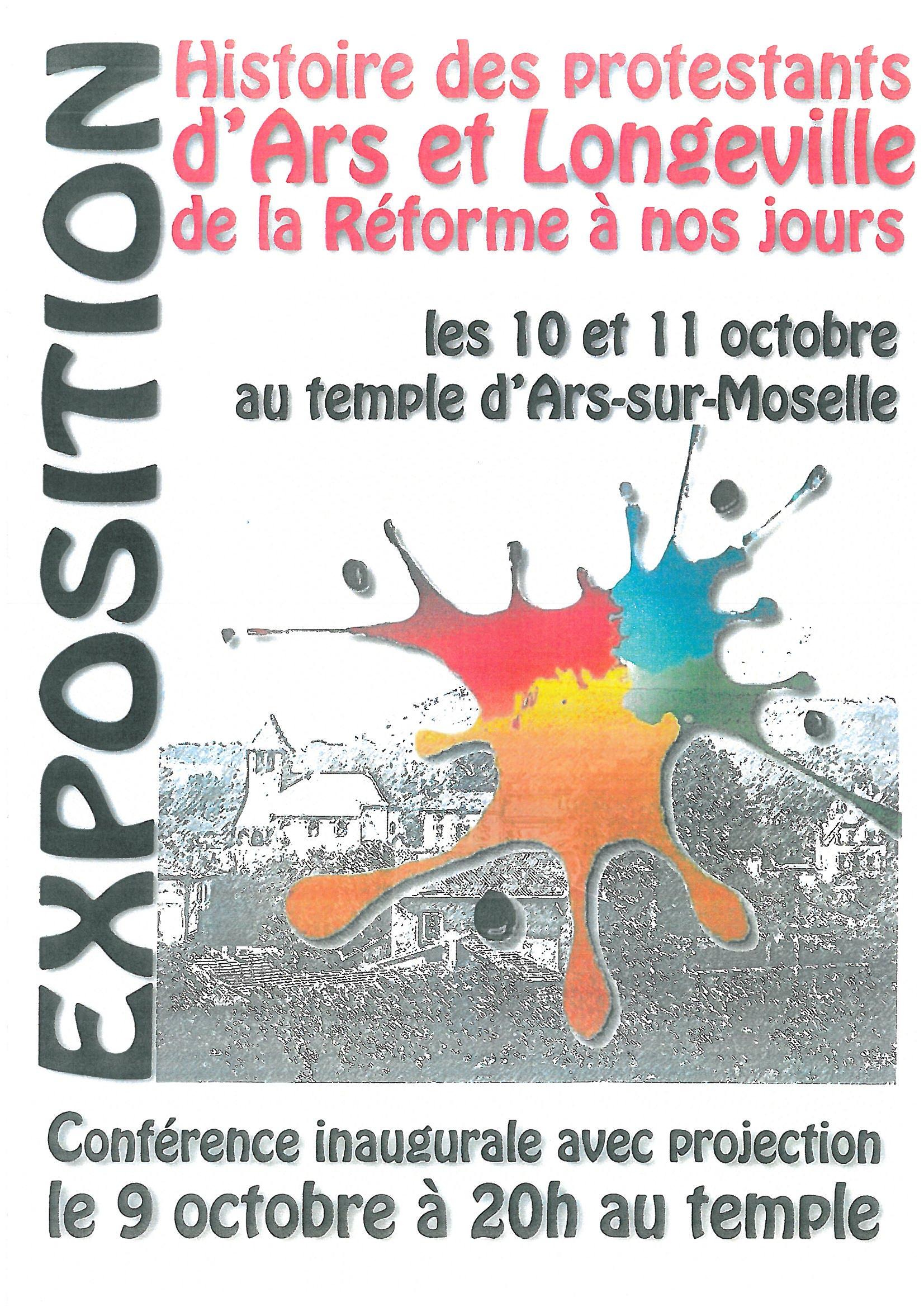 EXPOSITION histoire des protestants les 10 et 11 octore